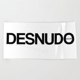 Desnudo Black Beach Towel