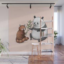 Panda Friends Wall Mural