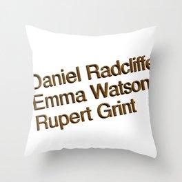 Harry P cast Throw Pillow