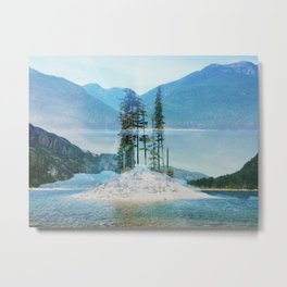 Double Exposure: Buttle Lake Metal Print