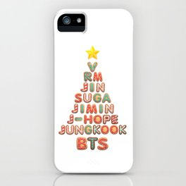 BTS Christmas Tree (BTS members) iPhone Case