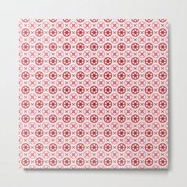 Chinoiseries Porcelain Tiles Red Metal Print