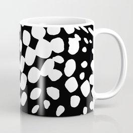DOTS DOTS BLACK AND WHITE DOTS PATTERN Coffee Mug