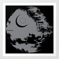 death star Art Prints featuring Death Star by Krakenspirit