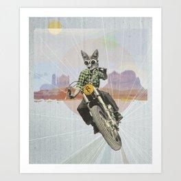 Wild road Art Print