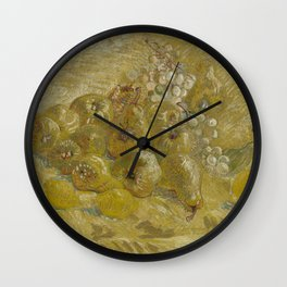 Quinces, Lemons, Pears and Grapes Wall Clock