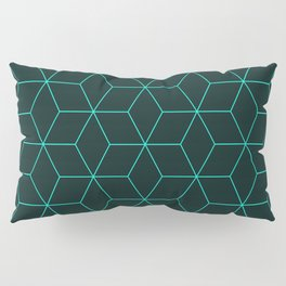 Cube Pattern 01 Green Pillow Sham