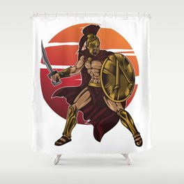Spartan Warrior | Sparta Greek Fighter Sword Power Shower Curtain