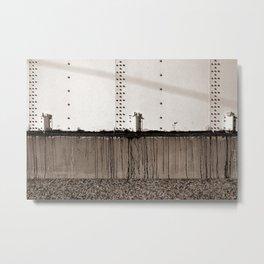 Grain Elevator Minimalist Photograph Metal Print