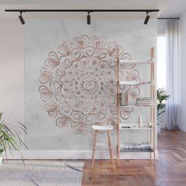 Heart Mandala on Marble #1 #decor #art #society6 Wall Mural