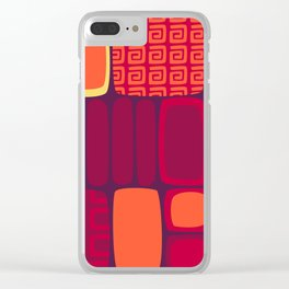 Quilted Flame Clear iPhone Case