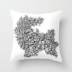 Abstract 65581081 Throw Pillow