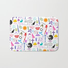Buffy Symbology, Multi-color / Rainbow / PRIDE! Bath Mat