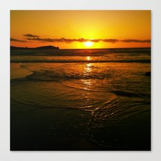 Good Night Wishes From The Warming Sun  Canvas Print