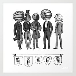 Honor to the ancient roots of our aristocracy. Art Print