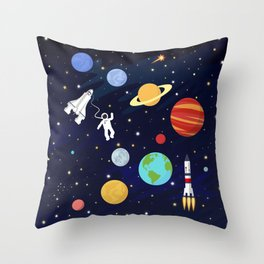 In space Throw Pillow