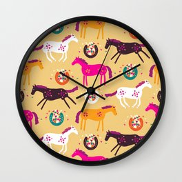 Lucky Horses Wall Clock