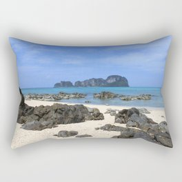 Tropical island Rectangular Pillow