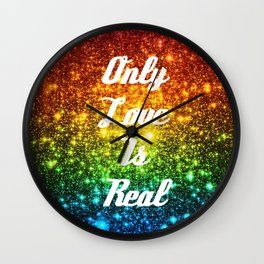Only Love is Real  RAINBOW STARS Wall Clock