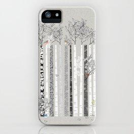 BRICH TREES & BIRDS iPhone Case