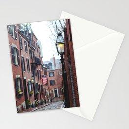 Acorn Street in Boston Stationery Cards