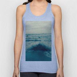 Waves crashing against rocks   Beach Unisex Tank Top
