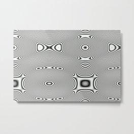 Bonitum B&W ripple Metal Print