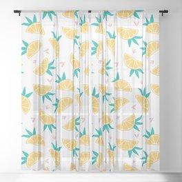 Lemon Slice Toss Sheer Curtain