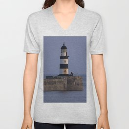 Seaham lighthouse Unisex V-Neck