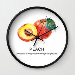Fun with Fruits - The Peach Wall Clock
