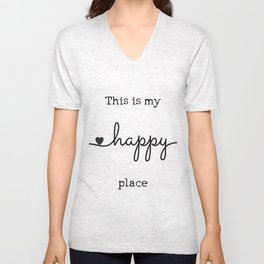 My Happy Place Unisex V-Neck