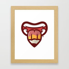 Pencil Mouth Framed Art Print