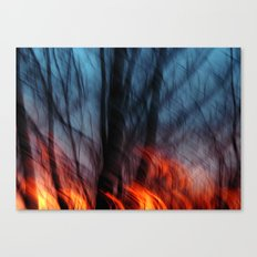Out of the Blue into the Fire #II Canvas Print