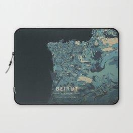 Beirut, Lebanon - Cream Blue Laptop Sleeve