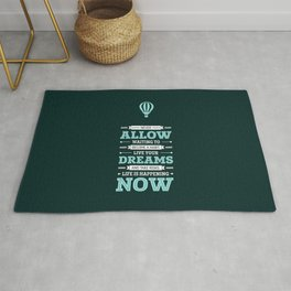 Lab No. 4 Live Your Dreams Life Inspirational Quote Rug