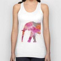 artsy Tank Tops featuring Artsy Elephant by LebensART