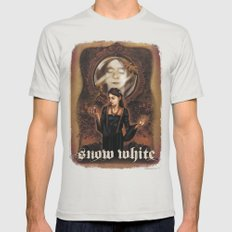 Snow White Mens Fitted Tee Silver SMALL