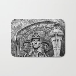 Landmarks 2 Black And White Bath Mat