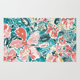 HELLO HIBISCUS - CORAL Rug