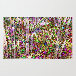 Frosty Christmas Branches Rug