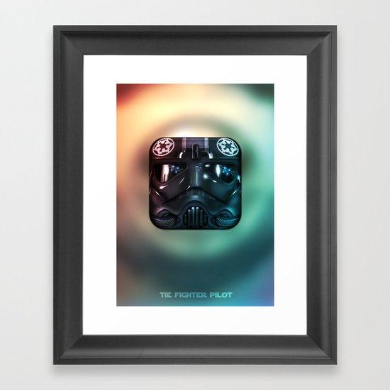 TIE Fighter Pilot Framed Art Print