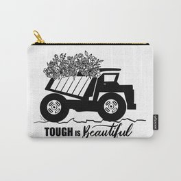 Tough is Beautiful Floral Truck Carry-All Pouch