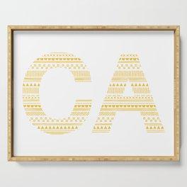 Typographic CA - Sunflower Serving Tray