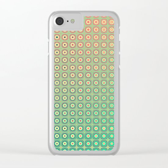 Shiny buttons retro pattern Clear iPhone Case