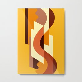 SUISSE - Art Deco Modern: AUTUMN ORANGE Metal Print