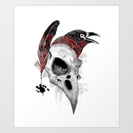 DARK WRITER Art Print