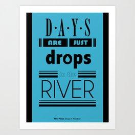 Drops In The River Art Print