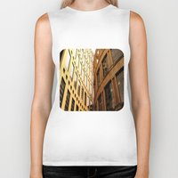 library Biker Tanks featuring Library  by Ethna Gillespie