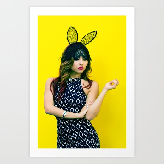 Masquerade Bunny  Art Print