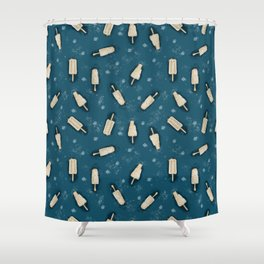 popsicle and ice floes. Shower Curtain